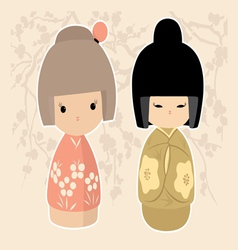 Asian Dolls vector image vector image