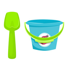 Baby busket with pail vector