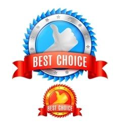 Best choice awards vector