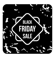 Black friday sale tag icon grunge style vector