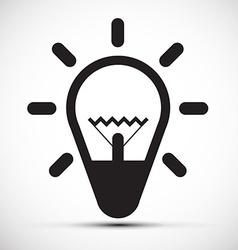Bulb Simple Icon vector image