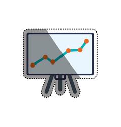 Chart presentation board vector