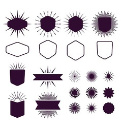 dark burgundy vintage style design elements set vector image vector image