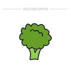 Doodle broccoli vector