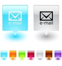 e-mail square button vector image vector image