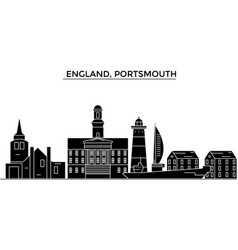 England portsmouth architecture city vector