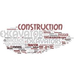 Excavators word cloud concept vector