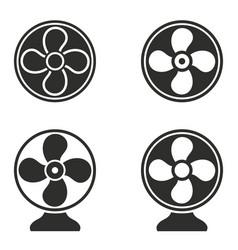 fan icons set vector image