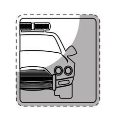 Figure car police icon image vector