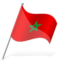 flag of Morocco vector image