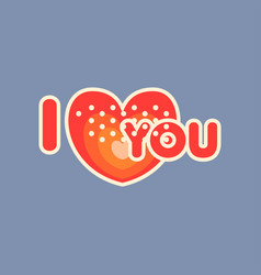 Flat design social network sticker vector
