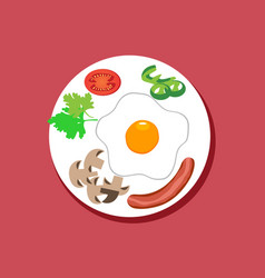 Food on plate vector