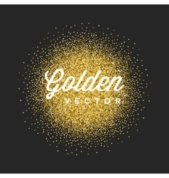 Gold Glitter Sparkles Bright Confetti Black vector image vector image