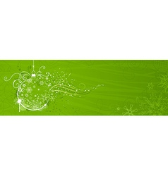 Green Christmas banner vector image
