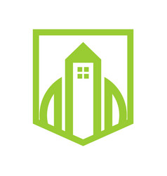 green shield property simple graphic vector image