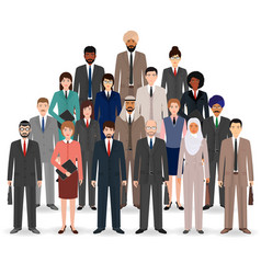 Group of business people set of flat men and vector