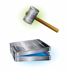 hammer and case vector image vector image