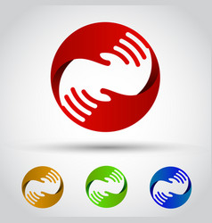 hands circle set conceptual symbol vector image