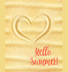 hello summer poster for holiday vacation design vector image