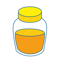 Honey bottle icon vector