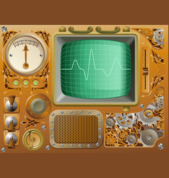 industrial steampunk media player vector image vector image