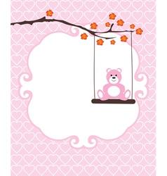 invitation card bear vector image
