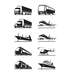 Passenger and cargo transportations vector