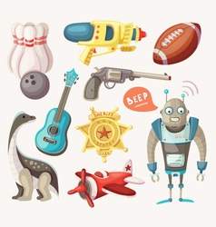 Set of toys for children vector image vector image