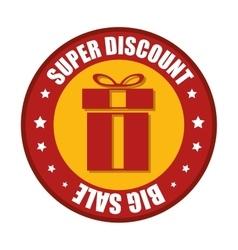 Super discount big sale red gift sticker star vector