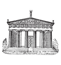 Temple of jupiter at olympia the sculptured vector