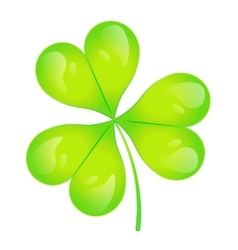 The images of abstract three-leaf clover vector image vector image