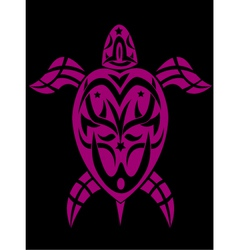 Turtle in tribal vector