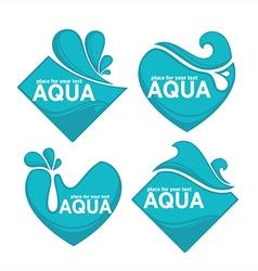 water stickers vector image vector image