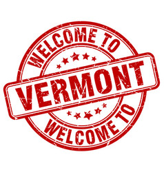 Welcome to vermont vector