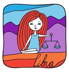 Zodiac signs Libra vector image vector image