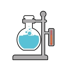 Flask laboratory science icon graphic vector