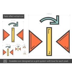 Redo reflect vertical line icon vector