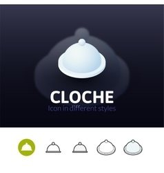 Cloche icon in different style vector