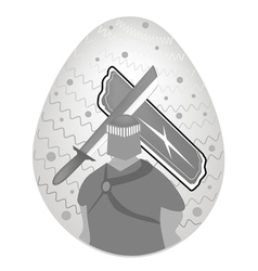 Knight and armor painted on easter vector