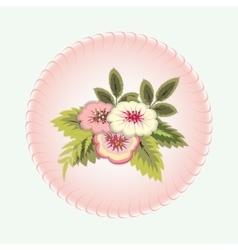 Bouquet of flowers vignette floral design vector