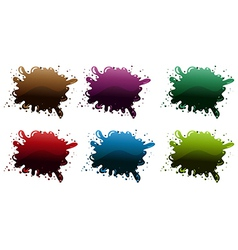 Different paint colors vector
