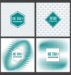 Old retro vintage style background design template vector