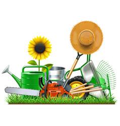 Garden accessories concept vector