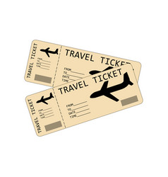plane tickets vector image