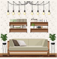 Modern living room vector