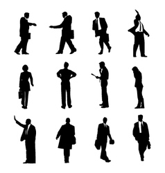 Businessmen silhouettes set vector