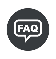 Round faq dialog icon vector