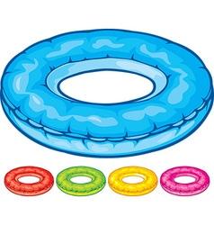 Pool round tube vector