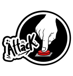 Attack button vector