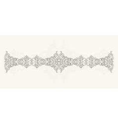Calligraphic design ornament vector